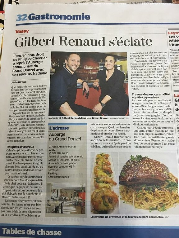 Gilbert Renaud s'éclate - Auberge du Grand Donzel
